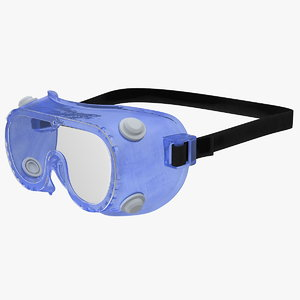 medical protective goggles 3D model