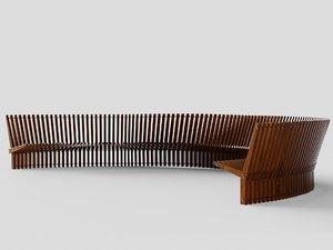 bench astral 3D model
