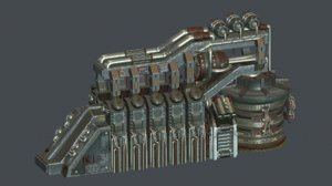 laboratory generator 3D model