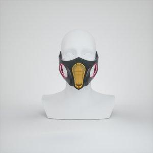3D mask corona face