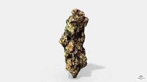 marijuana bud 3 - 3D model