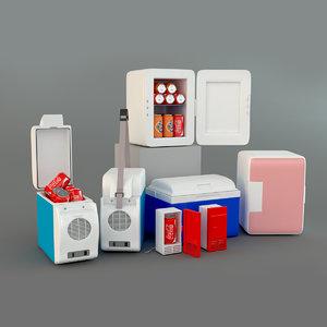 mini refrigerate 3D model