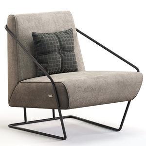 3D gioia nicoline armchair model