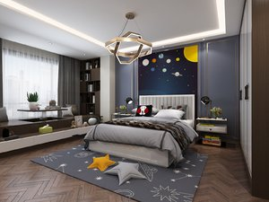 3D child bedroom stars toys