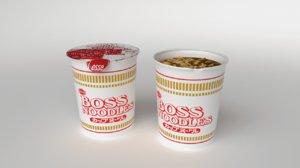 cup noodles 3D