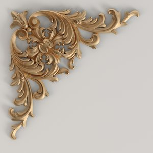 3D carved decor