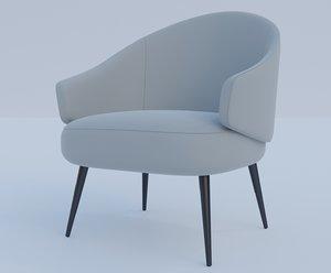 3D charlotte chair