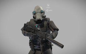 special forces ski-fi 3D model