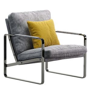 3D model fabricius walter knoll armchair