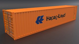 hapag lloyd container 3D