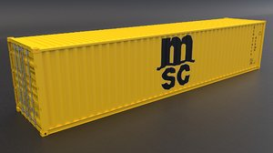 msc container 3D model