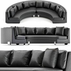 3D furniture sofa pillow model