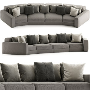 3D furniture sofa pillow