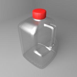 3D water bottle 33oz handle