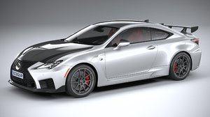 3D model lexus rc-f track