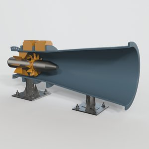 hydro power plant 3D model