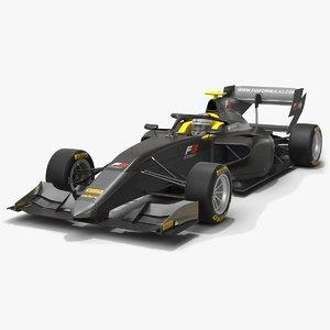 3D dallara f3 formula 3 model