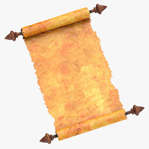 scroll open 01 3D model