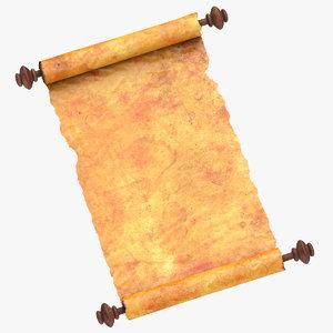 scroll open 03 3D