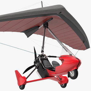 tandem ultralight trike light 3D model