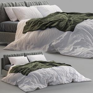 poltrona frau bed massimosistema 3D