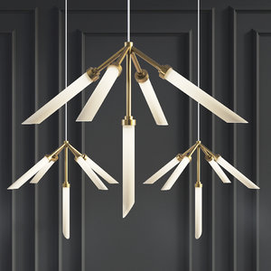 3D suspension lights spur pendant model