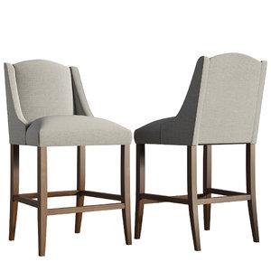 slope bar stool - 3D