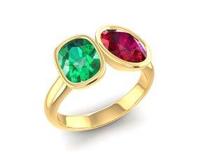 diamond luxury ring 3D model