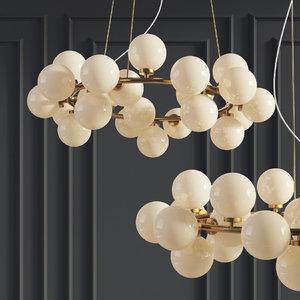 chandelier inflora 25 plafonds 3D model