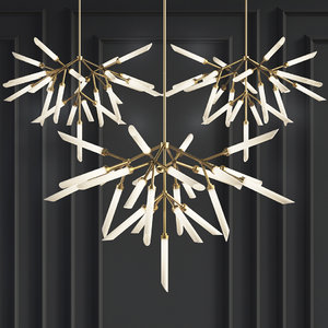 suspension lights spur chandelier 3D model