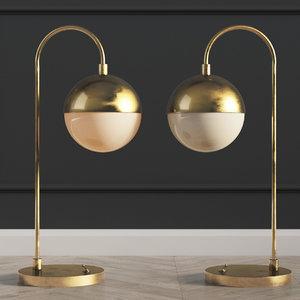table lamp cedar moss 3D model