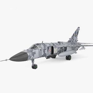 3D sukhoi su-24 su model