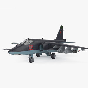 sukhoi su-25 su 3D