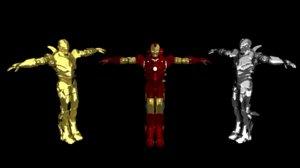 3D 3 iron man model