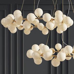chandelier inflora 45 plafonds 3D model