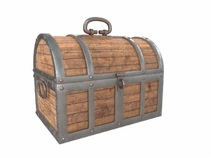 3D old treasure chest