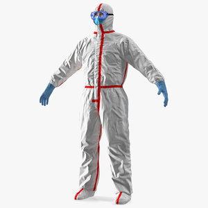 disposable chemical protective coverall model