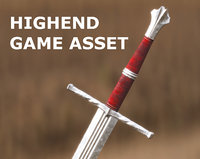 Medieval Sword for Games and Cinematics 01