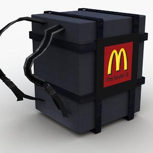 mcdonald delivery backpack 3D model