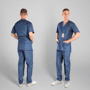 adult man uniform 3D model