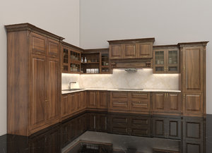 kitchen furniture interior 3D model