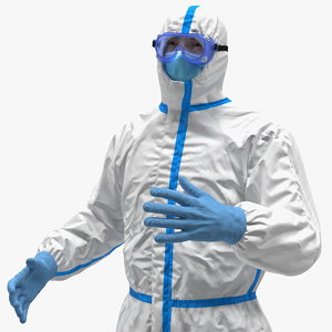 man disposable medical protective 3D model