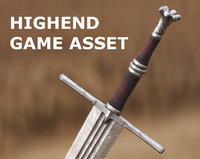 Medieval Sword for Games and Cinematics 05