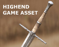 Medieval Sword for Games and Cinematics 04
