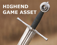 Medieval Sword for Games and Cinematics 06