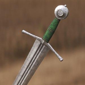 3D model sword medieval cinematics