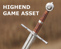 Medieval Sword for Games and Cinematics 03