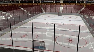 ice hockey stadium 3D model