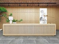 Wooden Front Desk Design