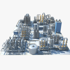 industrial area 08 3D model